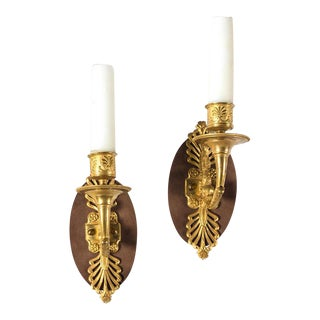 Antique French Dolphin Ormolu Sconces - a Pair For Sale
