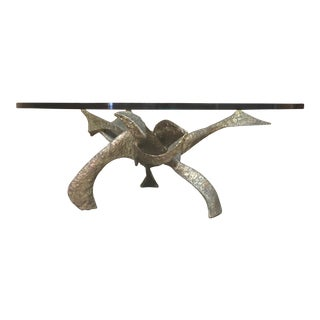 Abstract Bronze Coffee Table For Sale