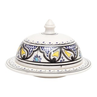 Moroccan Hand Painted Serving Tajine For Sale