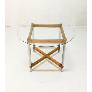 Wrapped Rattan Bamboo & Chrome Side Table Preview
