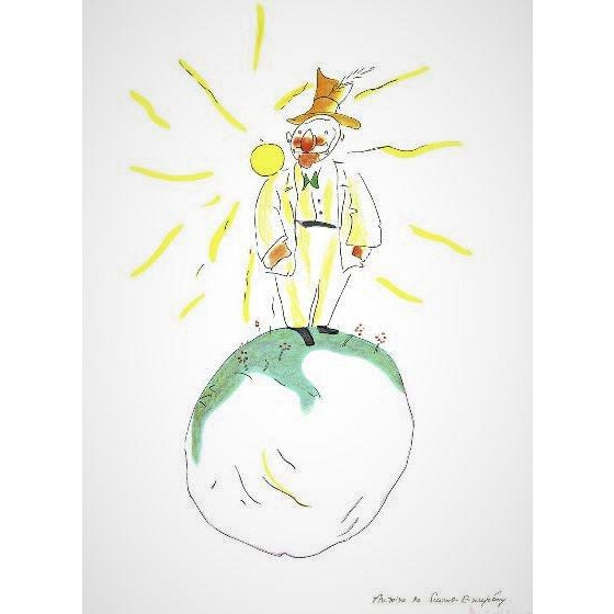 Artist: Antione de Saint Exupery Title: The Conceited Man Condition: Near Mint Edition Size: 300 Image Size: 15.5 x 12.25...