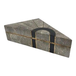 Vintage Maitland Smith Tessellated Stone Box