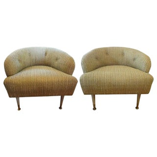 Italian Mid Century Gio Ponti Inspired Lounge Chairs- a Pair For Sale