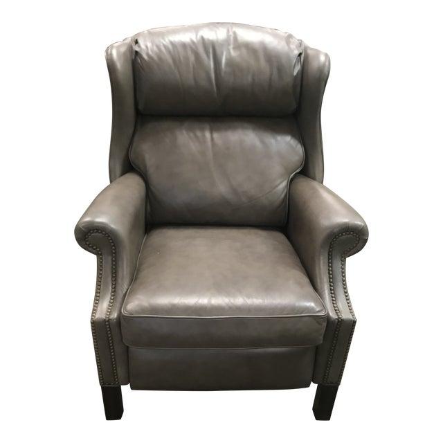 Groovy Vintage Bernhardt Furniture Grey Leather Push Wingback Machost Co Dining Chair Design Ideas Machostcouk