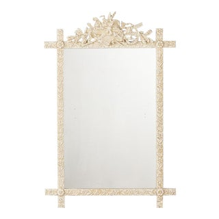 Late 1800s French Louis XVI Style Painted Mirror