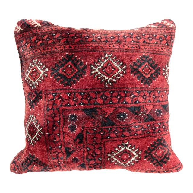 Turkish Vintage Carpet Cushion Cover - Image 1 of 7