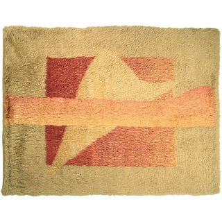 """Contemporary Turkish Shag Rug - 6'2"""" X 7'11"""" For Sale"""