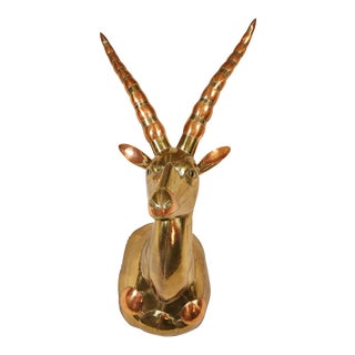 20th Century Sergio Bustamante Antelope Head For Sale
