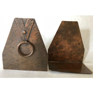 Arts and Crafts Copper Bookends Preview
