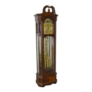 Ridgeway Cherry Tall Case Grandfather Clock
