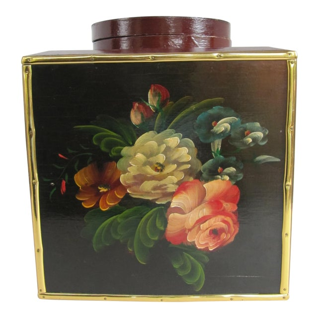 Floral Laquer Box - Image 1 of 7