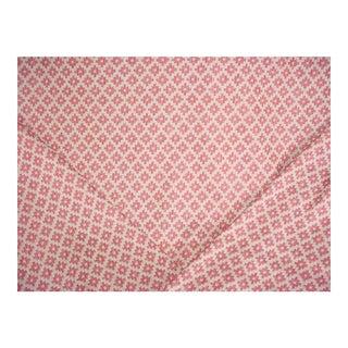 Brunschwig & Fils Baronet Strie Rose Lattice Upholstery Fabric - 2 1/8 Yards For Sale