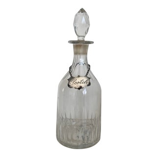 Late 19th Century Antique Crystal Decanter by Fred Kuehne (New York) For Sale