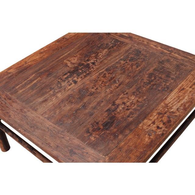Vintage Sarreid LTD Chinese Rustic Coffee Table - Image 3 of 4