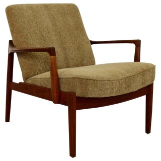 Mid Century Modern Danish 135 Teak Lounge Chair by Tove & Edvard Kindt-Larsen For Sale