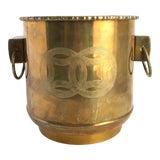 Image of Vintage Asian Brass Planter For Sale