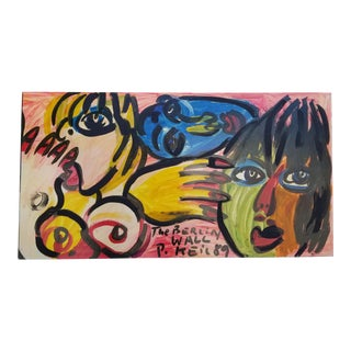 """Large 1989 """" the Berlin Wall """" by Piter Keil For Sale"""