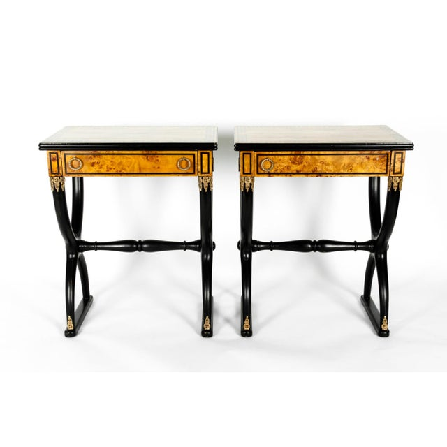 Early 19th Century Ebony Side or End Tables - a Pair For Sale - Image 10 of 13