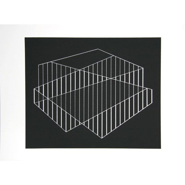 Abstract Expressionism Josef Albers - Portfolio 2, Folder 6, Image 1 Framed Silkscreen For Sale - Image 3 of 4
