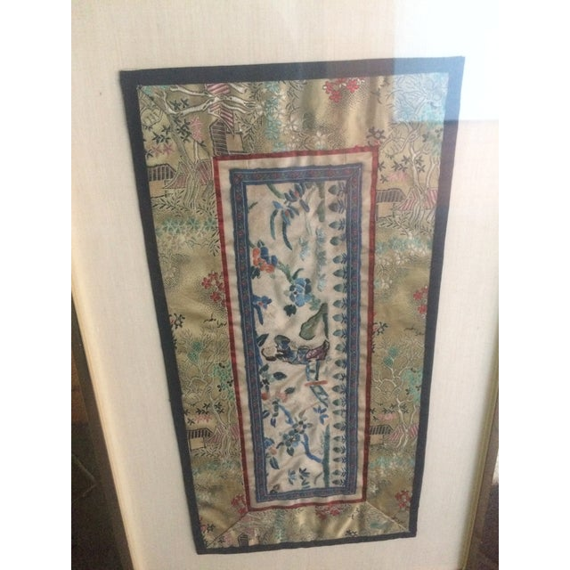Vintage Asian Silk Embroidered Panel For Sale - Image 4 of 6