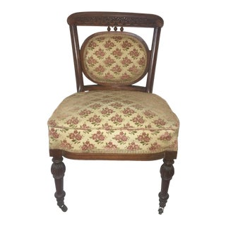 1940s Vintage Upholstered Side Chair For Sale