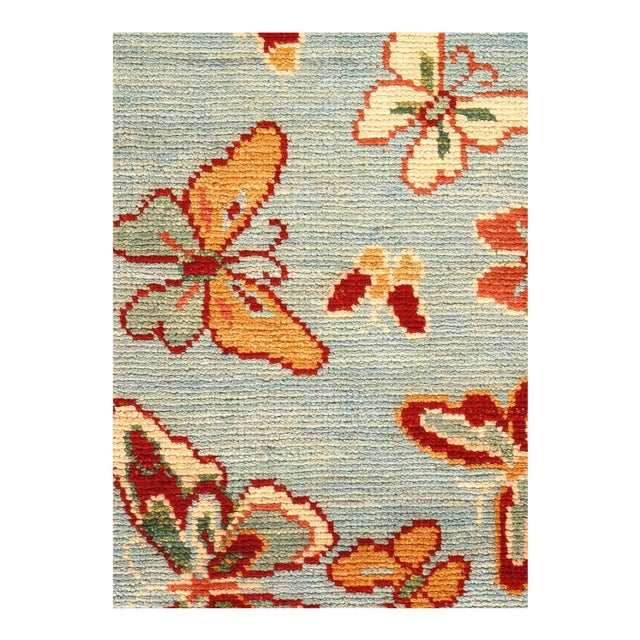 "Modern Pasargad Modern Butterfly Kaleidoscope Rug- 2'4"" X 4' For Sale - Image 3 of 4"
