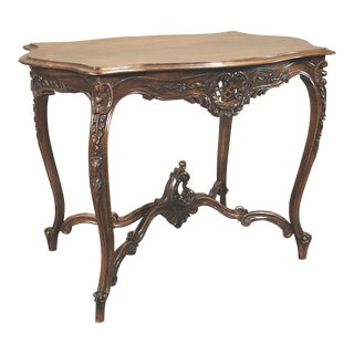 19th Century French Louis XV Walnut End Table For Sale