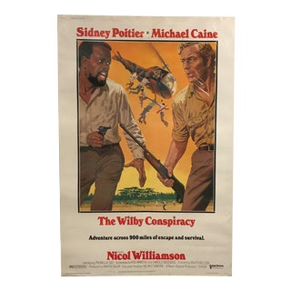 """United Artists """"The Wilby Conspiracy"""" Vintage Movie Poster"""