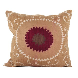 Vintage Suzani Bolinpush Pillow For Sale