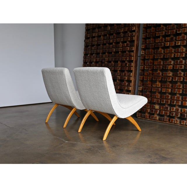 Tan Milo Baughman Scoop Chairs for Thayer Coggin Circa 1955 - a Pair For Sale - Image 8 of 13