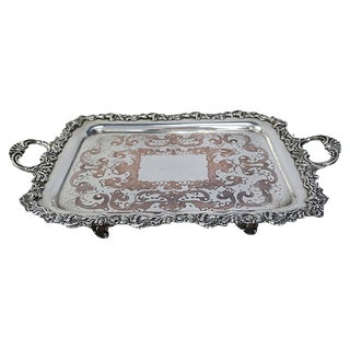 Heavy Antique English Silver-Plate Tray