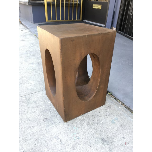 Brown Mahogany Sculptural Side Table For Sale - Image 8 of 9