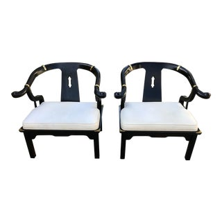 1950s Regency James Mont for Century Furniture Ming Chairs - a Pair