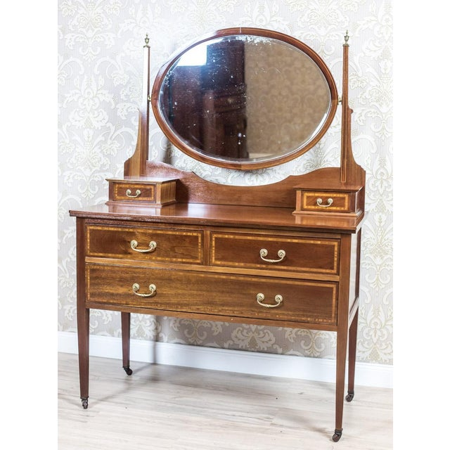 Metal 19th Century English Vanity Table, Signed Maple & Co. For Sale - Image 7 of 12