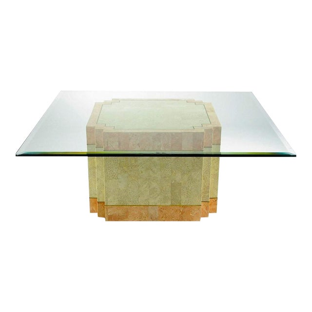Casa Bique Tessellated Fossil Stone & Marble Coffee Table For Sale
