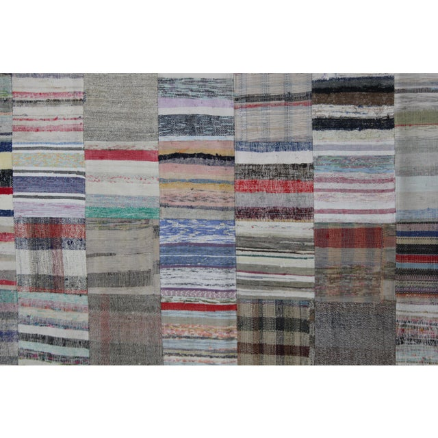 A beautiful antique Patchwork Rug . It's in very good condition, practically new. This Patchworks rug is produced of older...