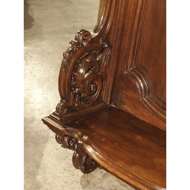 Brown 19th Century Sculpted Oak Stall from a Private Chapel in Liege, Belgium For Sale - Image 8 of 11