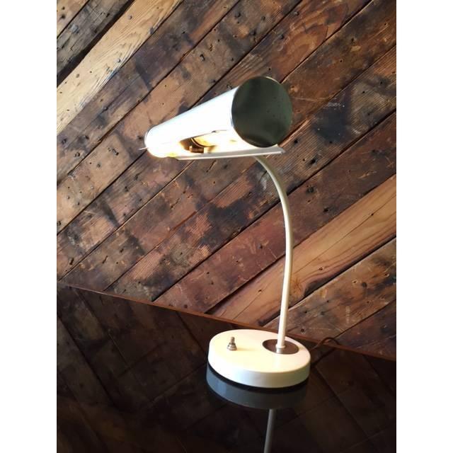 Vintage White Chrome Task Lamp - Image 5 of 6
