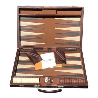 Mid Century Modern Backgammon in Briefcase For Sale