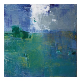 Blue & Green Abstract Landscape Painting