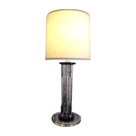 Vintage Lucite Table Lamp - Image 1 of 5