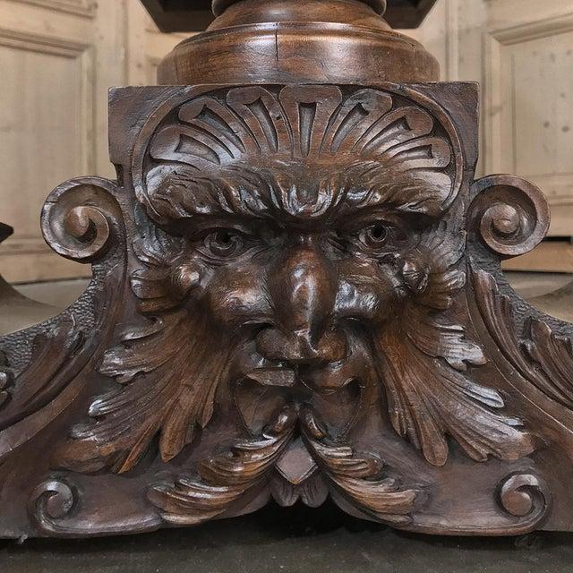 19th Century Italian Walnut Renaissance Table ~ Desk For Sale In Dallas - Image 6 of 13