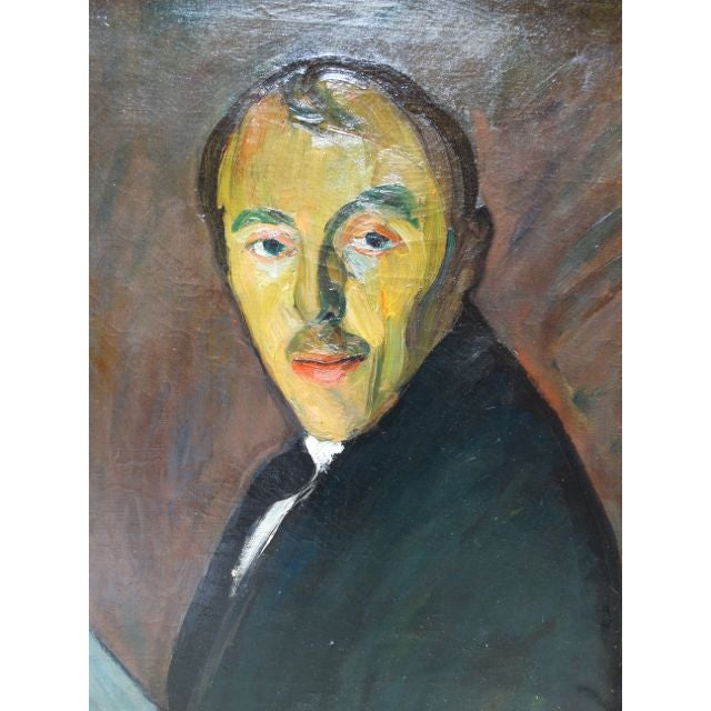 Self-Portrait Oil on Canvas by Ejnar Hansen - Image 5 of 7