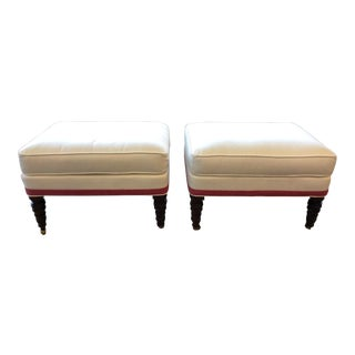 Modern Hickory Chair Madison Ottomans - a Pair For Sale