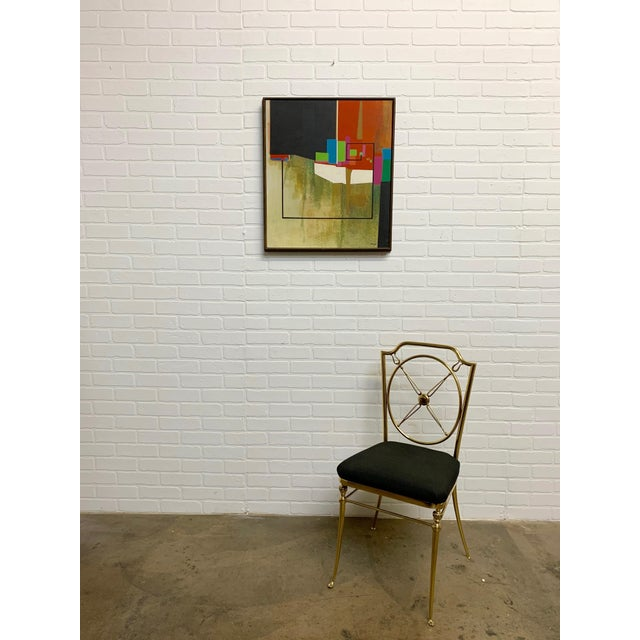 Modernist Geometric Painting, 1971 For Sale - Image 10 of 13