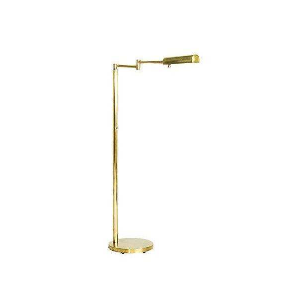 Koch & Lowy Brass Swing Arm Adjustable Floor Lamp - Image 1 of 5