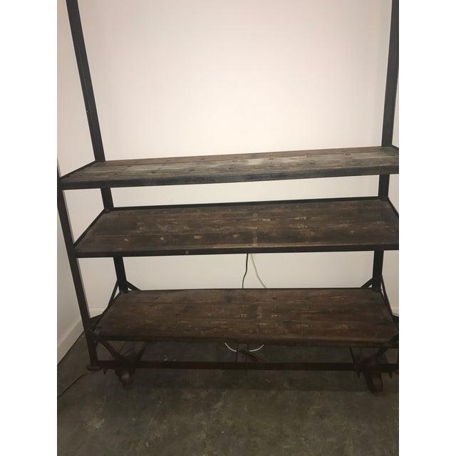 Rustic Antique Industrial Cobblers Shoe Rack Shelving Unit For Sale - Image 3 of 11