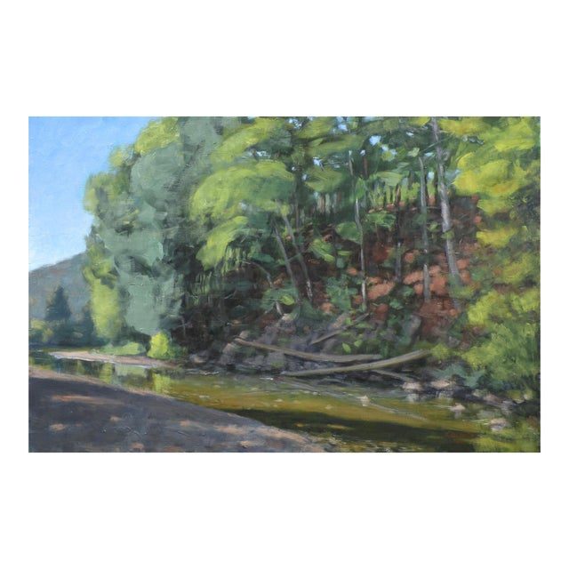 Original Painting of a River in Vermont For Sale