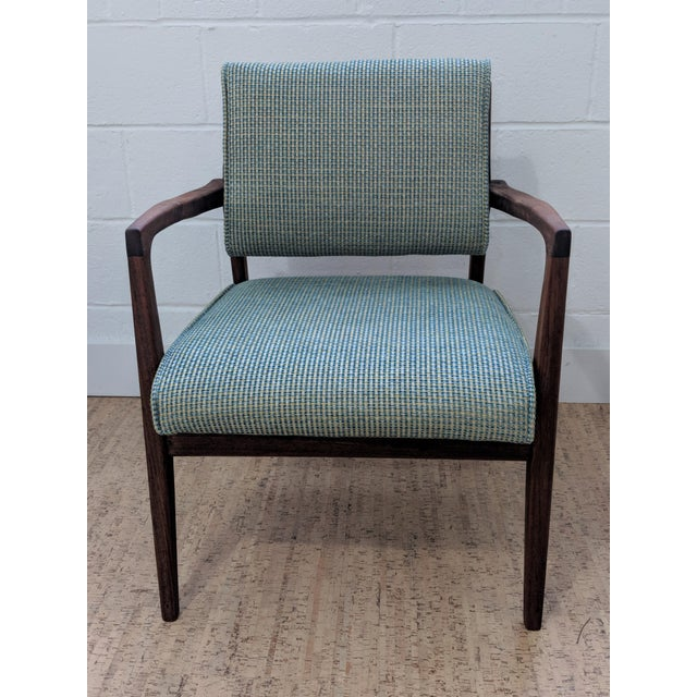 Mid-Century Modern 1960s Restored Vintage Armchair For Sale - Image 3 of 11