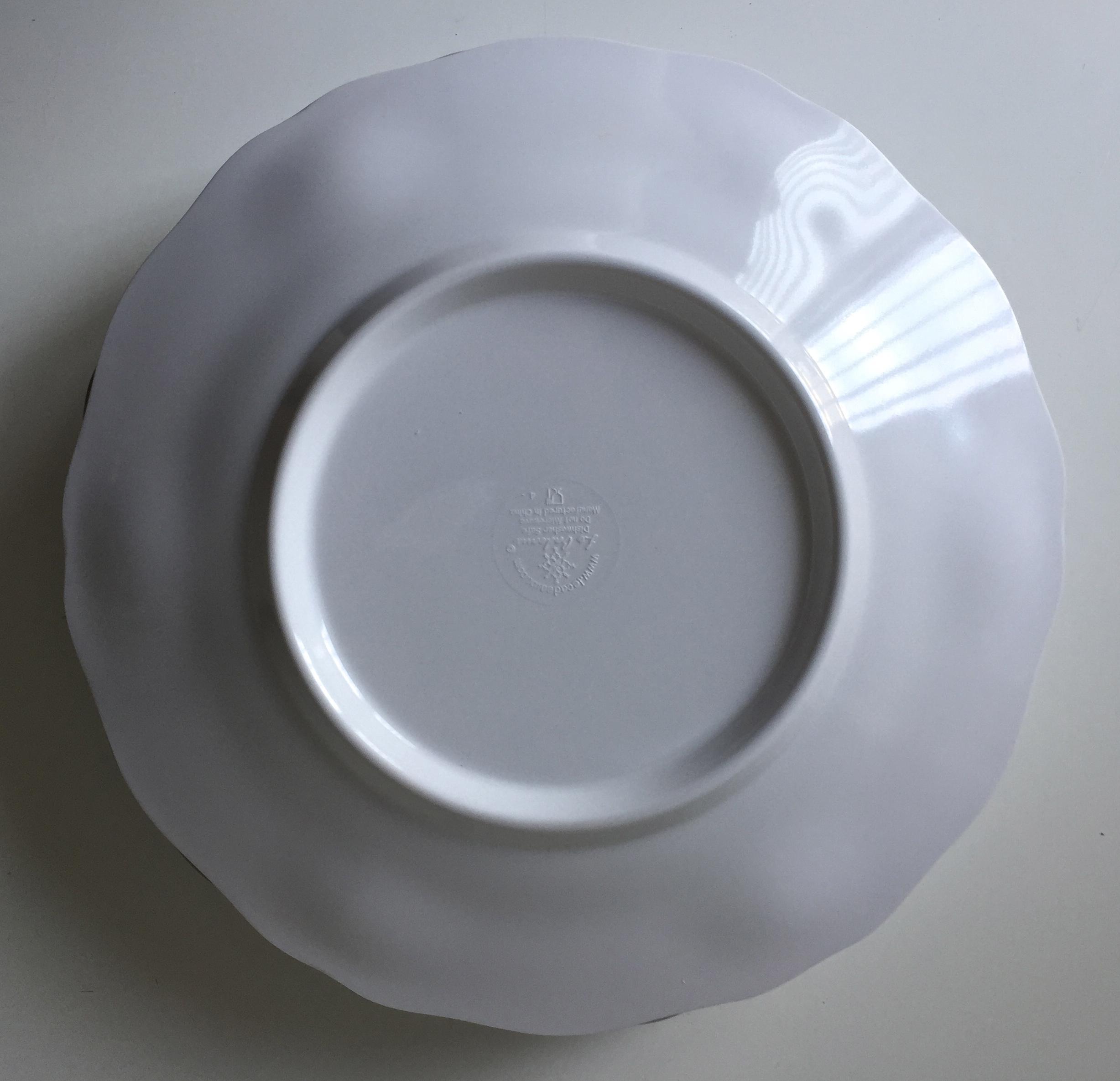 Le Cadeaux \ Provence\  White Melamine Plates - Set of 5 - Image ... & Le Cadeaux \